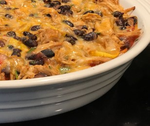 Chicken and Roasted Vegetable Enchilada Casserole