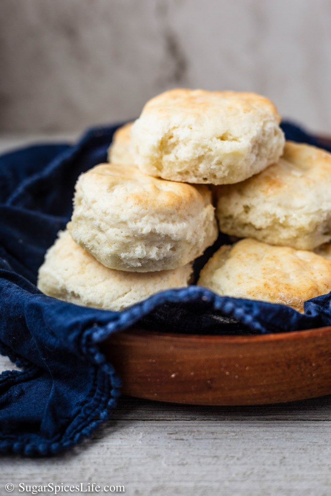 These Buttermilk Biscuits are buttery, flaky, and all around delicious. They're perfect for breakfast sandwiches, as a side for spaghetti, or just an afternoon snack!
