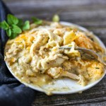 Cheesy Chicken Lasagna. Layers of flavorful chicken topped with creamy sauce, and lots of cheese. This recipe takes chicken lasagna to a new level!