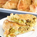 Indian Pot Pie Turnovers. These delicious turnovers are an Indian take on pot pie. They're filled with Indian spiced vegetables and turkey, and will satisfy the whole family.