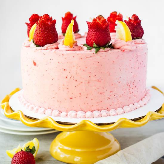 Lemon Strawberry Cake