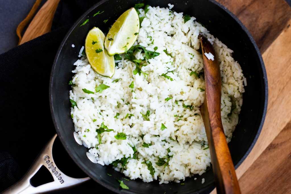 Cilantro Lime Rice. This rice couldn't be easier to make, and it takes your homemade rice to the next level. It's like having a Chipotle in your kitchen.