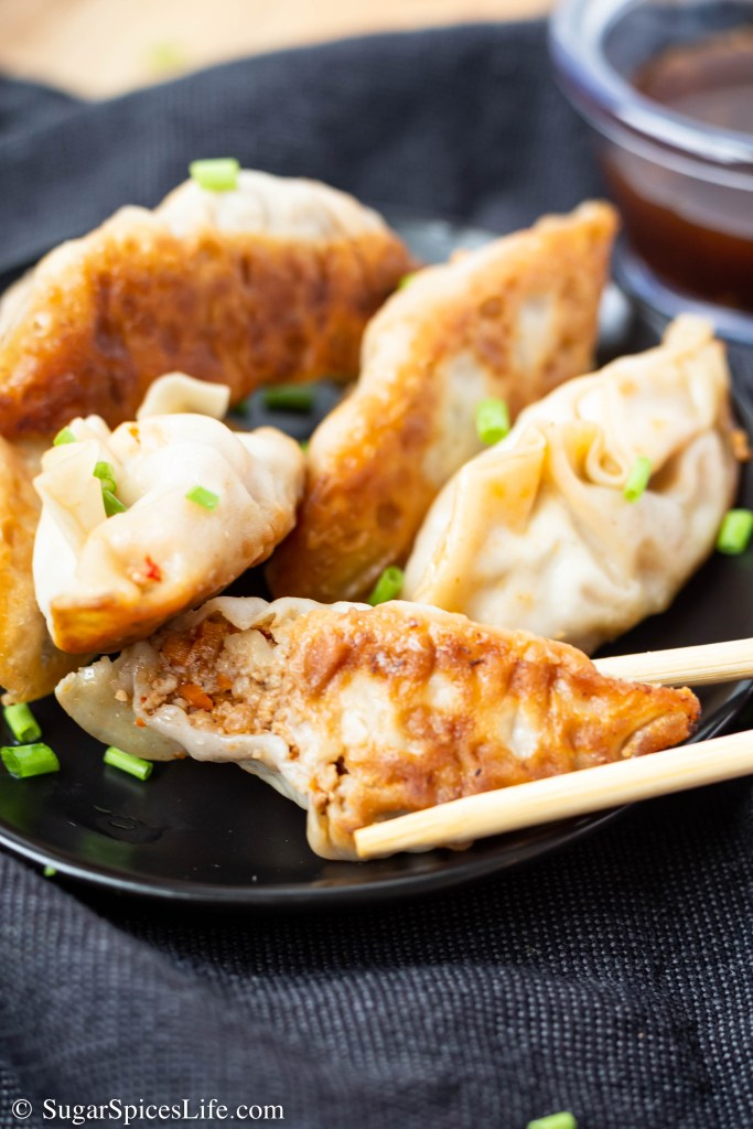 Ground Turkey Potstickers. Pure comfort food that is on the healthy side. Easy to make potstickers that are filled with deliciously seasoned turkey and vegetables.