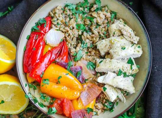 Chicken and Vegetable Farro Salad