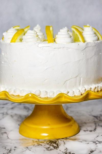Lemon Cake with Lemon Oreo Filling. A moist, lemon cake with lemon Oreo cookie dough filling, and a lemon cream cheese frosting. All the lemon you can dream!