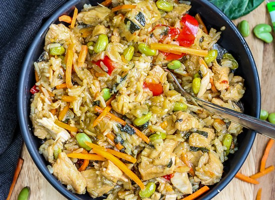 Wasabi Teriyaki Chicken and Rice (Instant Pot or Stove Top)