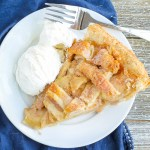 Homemade Apple Pie. A buttery, flaky crust filled with deliciously spiced apples. This pie is perfect for any time of year.