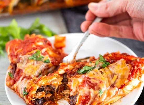 Chicken and Andouille Sausage Enchiladas