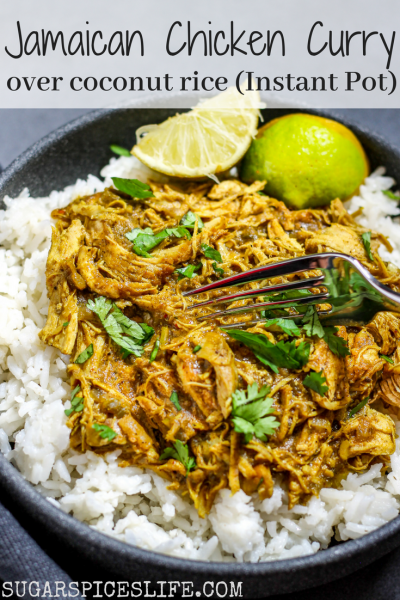 Jamaican Curry Chicken And Coconut Rice Instant Pot Recipe Sugar