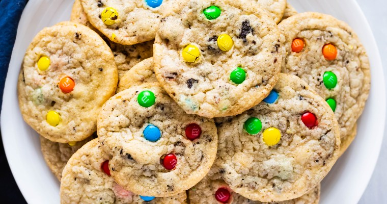 Chewy Oreo M&M Cookies