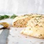Instant Pot Garlic Rosemary Bread. Soft, delicious yeast bread made with browned butter, fresh rosemary, and garlic. Rises in an Instant Pot and bakes in the oven!