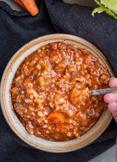 Instant Pot Unstuffed Cabbage Soup