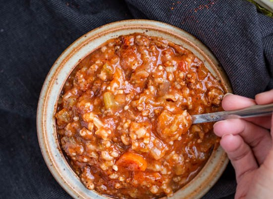 Instant Pot Unstuffed Cabbage Soup