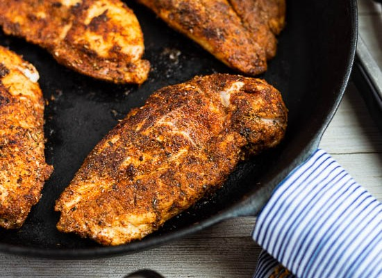 Mild Blackened Skillet Chicken