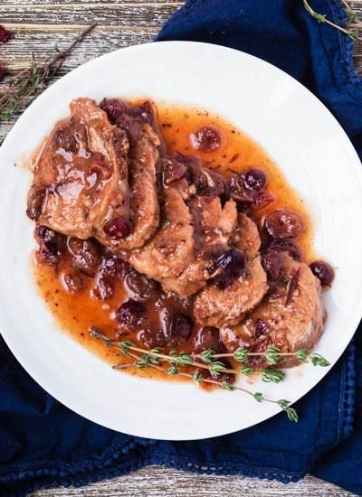 Instant Pot Cranberry Pork Tenderloin