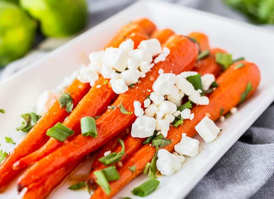 Honey Lime Roasted Carrots