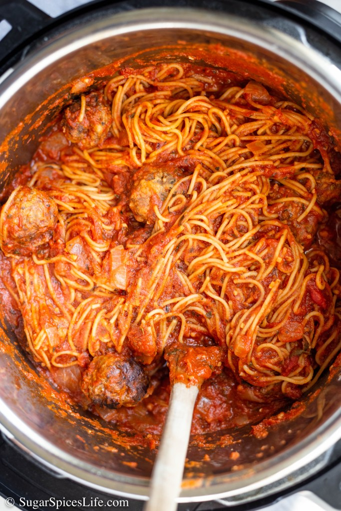 This Instant Pot Spaghetti is one of the quickest, easiest, and tastiest dinners you can have. Perfect for a busy weeknight meal. This post also has lots of tips and tricks for cooking spaghetti in your pressure cooker.