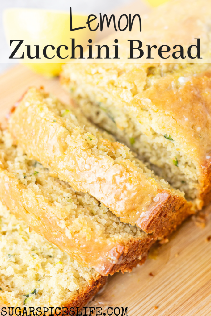 Soft zucchini bread flavored with fresh lemon juice and topped with a sweet lemon icing. This Lemon Zucchini Bread will be one of your favorite zucchini bread recipes.