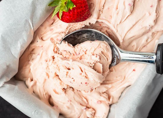Strawberry Custard Ice Cream