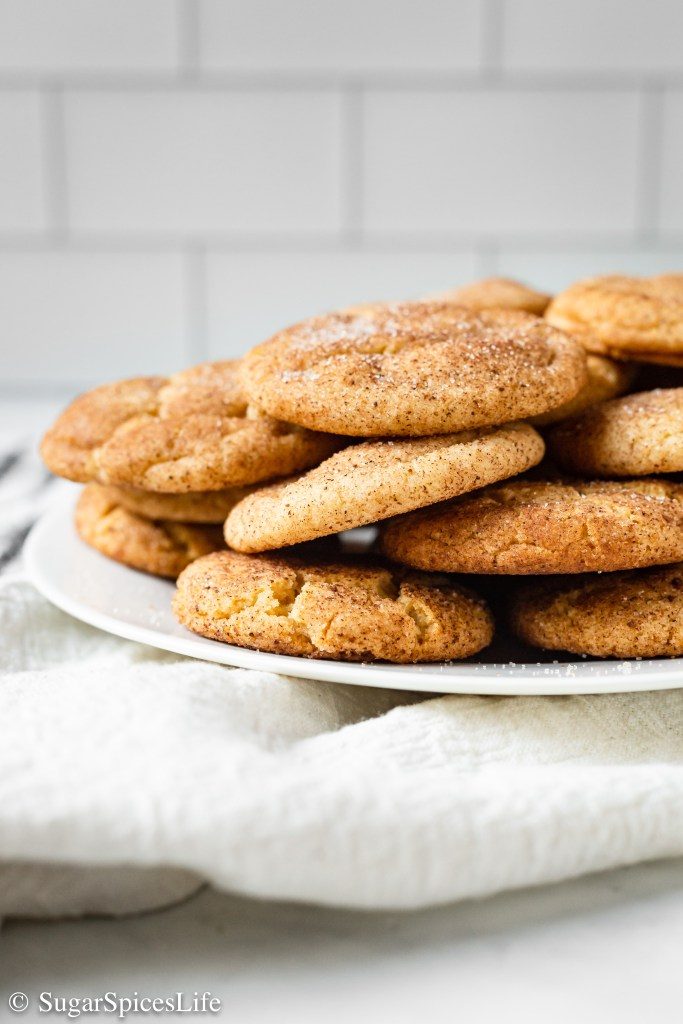 Soft, chewy snickerdoodle cookies made with reduce apple cider to give you all the fall feels. These Apple Cider Snickerdoodles are a perfect fall treat!