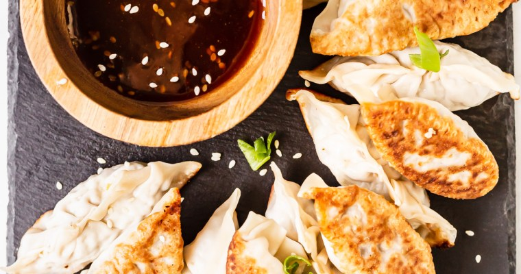 Garlic Ginger Pork Potstickers
