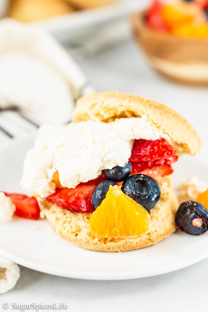 Fluffy, lightly sweetened shortcakes filled with fruit and a fresh orange cream. These Orange Berry Shortcakes are a delicious, unique twist on shortcake!