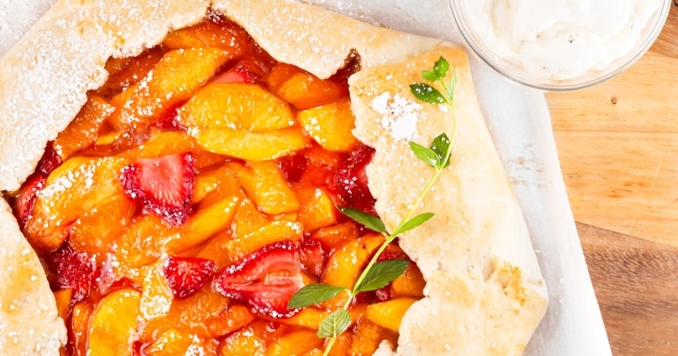 Strawberry Peach Galette