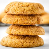Soft, sweet cookies made with pumpkin puree, then rolled in a mixture of sugar and pumpkin pie spice. These Pumpkin Snickerdoodles are the perfect fall cookie!