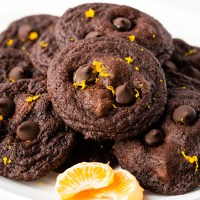Fudgy, chocolate cookies filled with dark chocolate chips and hints of orange zest. These Orange Chocolate Cookies are perfect for any cookie exchange!