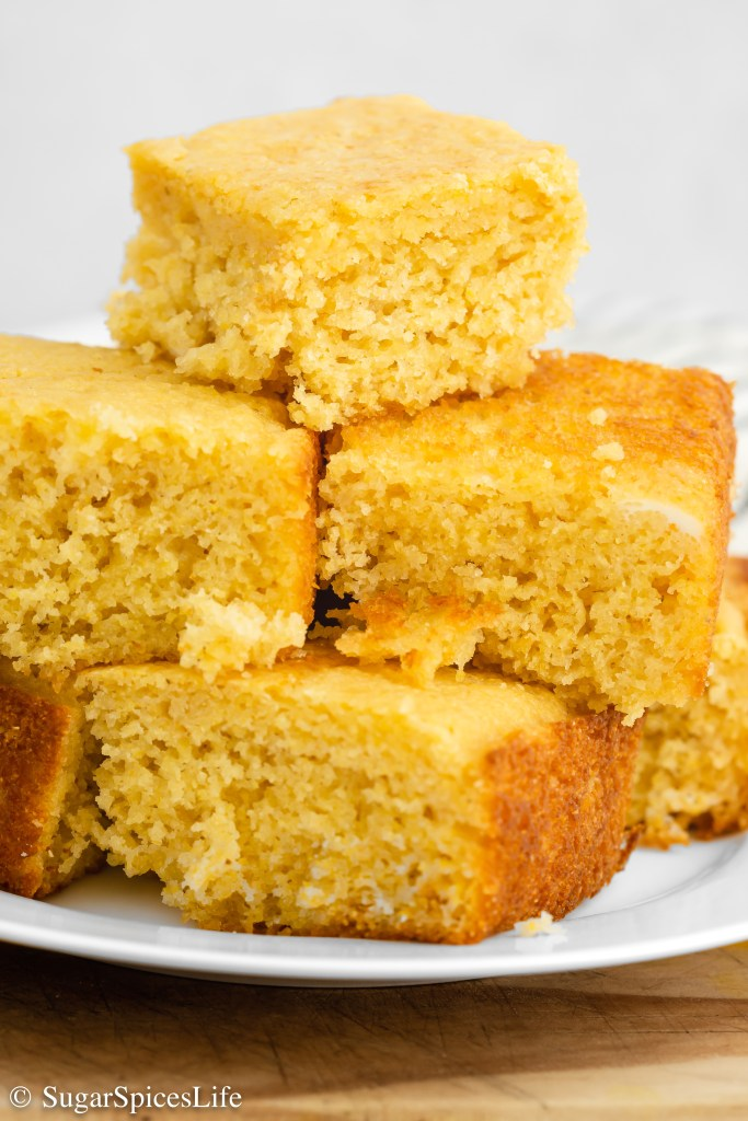 Soft, moist cornbread sweetened with maple syrup and honey. This Sweet Maple Cornbread is a unique and tasty twist on traditional cornbread!