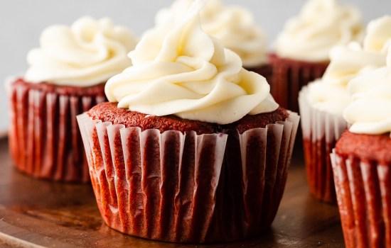 Berry Filled Red Velvet Cupcakes