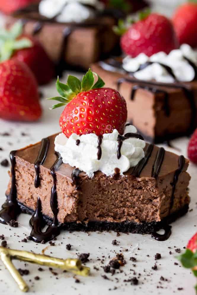 Chocolate Cheesecake Bars - Sugar Spun Run