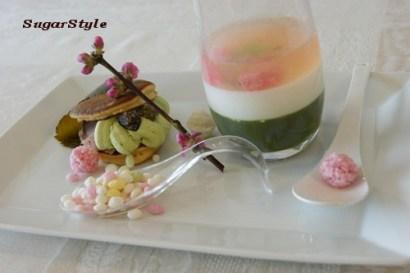 ミニドラ焼き(桜餡&抹茶ホイップ)