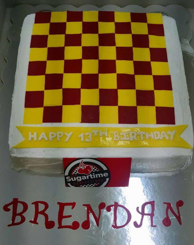 Checkerboard Birthday Cake Sugartime Confections