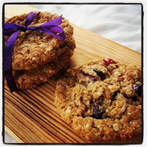 Cranberry Oatmeal & White Chocolate Cookies