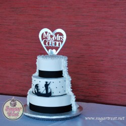 Black and white 3 tier with Gondola silhouette (from Sugar Boo) - Front