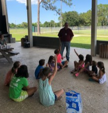 Stefan Genser taught the kids some great summer safety tips.