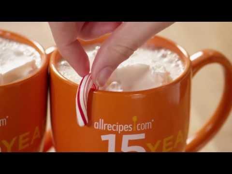 How to Make Candy Cane Cocoa   Christmas Recipes   Allrecipes.com