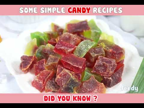 Some simple candy recipes. Did you know?