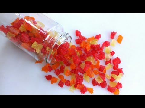 কাচা পেঁপের ক্যান্ডি/মোরব্বা/টুটি ফ্রুটি | Raw papaya candy/Tutti fruty | Honemae tutti fruti recipe