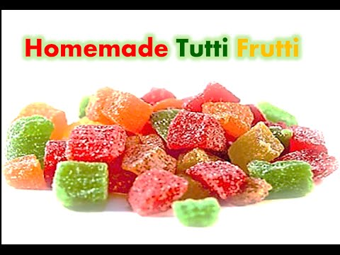 Homemade Tutti Frutti | Candied Fruit | Fruit Cake Mix | Simple and Easy to make by RinkusRasoi