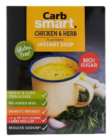 Carbsmart Chicken & Herb Soup 4x17g