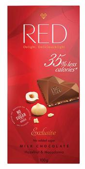 Red Delight Milk Chocolate With Hazelnut And Macadamia by Chocolette