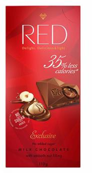Red Delight Milk Chocolate With Nut Filling by Chocolette