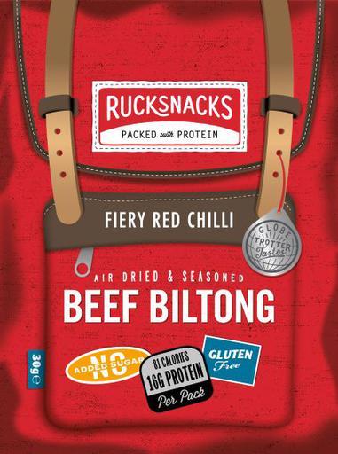 Rucksnacks Fiery Red Chilli Beef Biltong