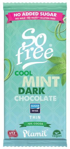 So free No added sugar Cool Mint Dark Thin by Plamil