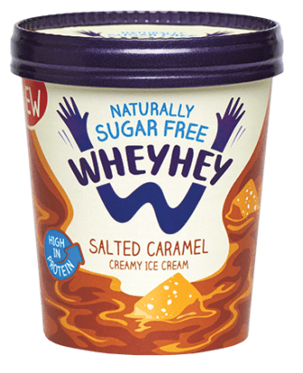 Wheyhey Salted Caramel Ice Cream 500ml