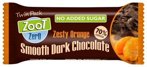 Zoot Zero Zesty Orange Smooth Dark No Added Sugar Chocolate