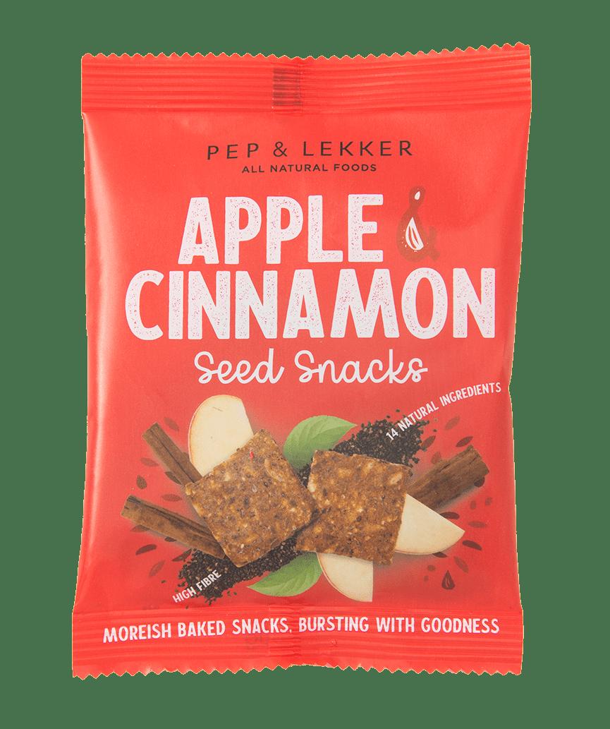Pep & Lekker Apple & Cinnamon Seed Snacks