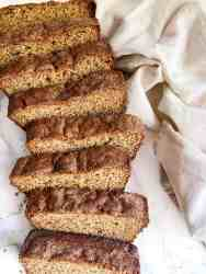 sliced protein banana bread
